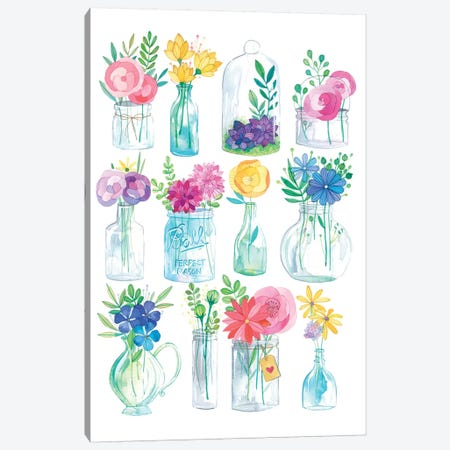 Jars Canvas Print #AVC19} by Ana Victoria Calderon Canvas Wall Art