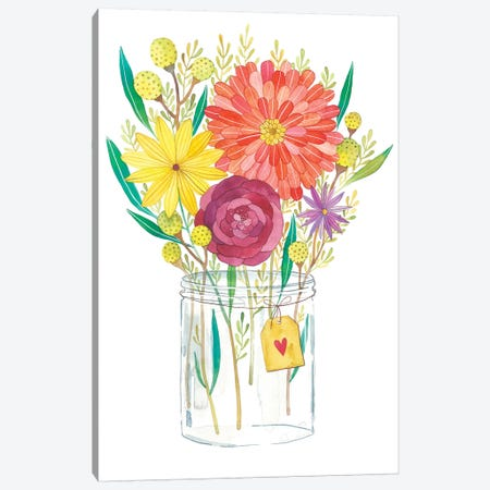 Autumn Flowers Canvas Print #AVC1} by Ana Victoria Calderón Canvas Art Print