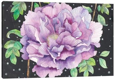 Midnight Bloom Canvas Art Print
