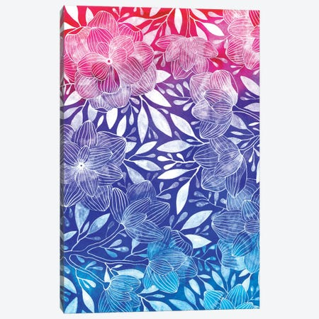 Ombre Floral I Canvas Print #AVC23} by Ana Victoria Calderón Canvas Print