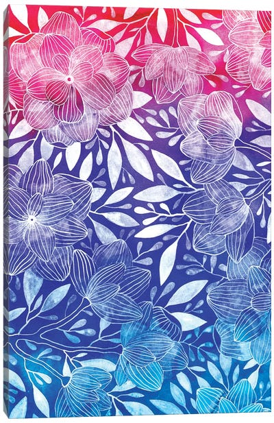 Ombre Floral I Canvas Art Print