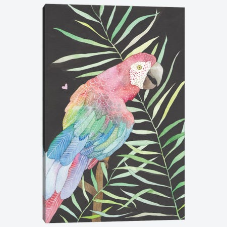 Parrot Canvas Print #AVC24} by Ana Victoria Calderón Canvas Artwork