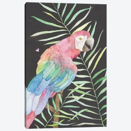 Parrot Canvas Print #AVC24} by Ana Victoria Calderón Canvas Artwork