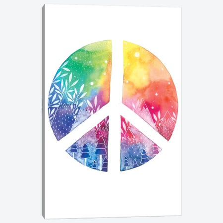 Peace Canvas Print #AVC25} by Ana Victoria Calderón Canvas Art