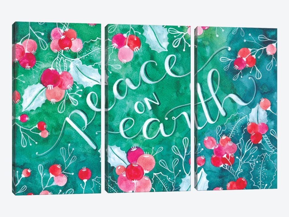 Peace On Earth by Ana Victoria Calderon 3-piece Canvas Art