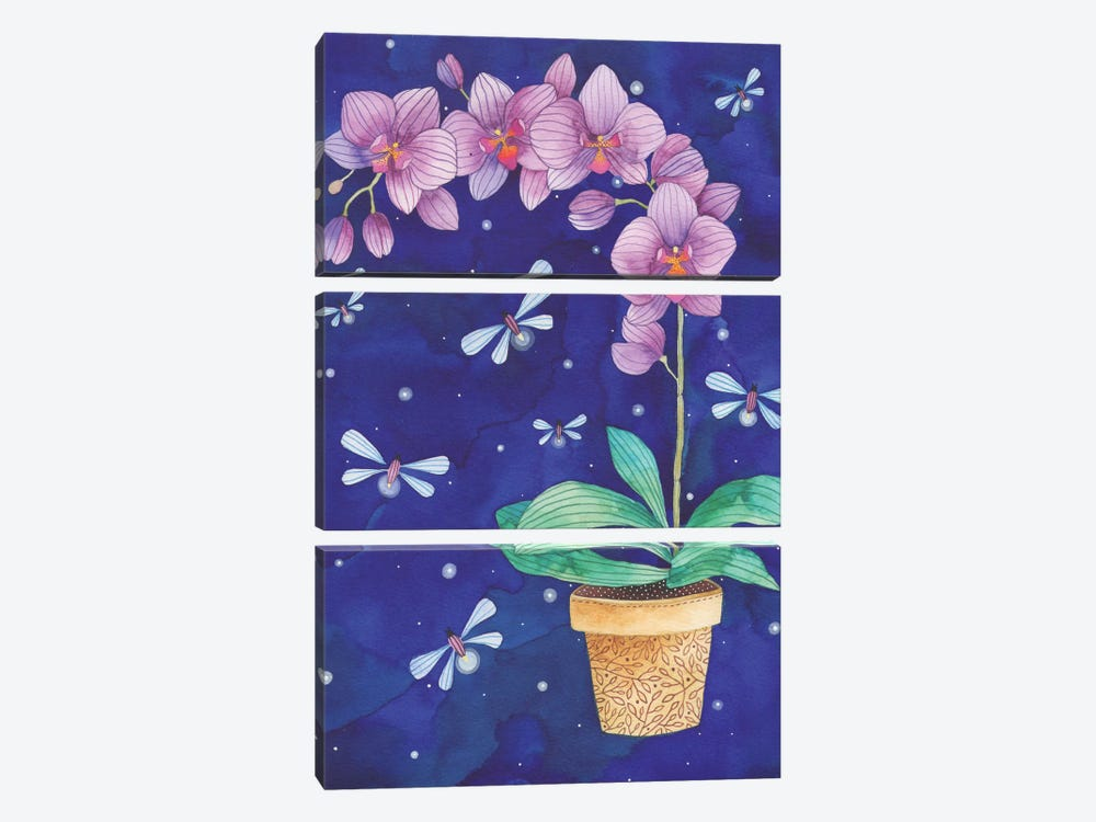 Radiant Orchid 3-piece Canvas Print