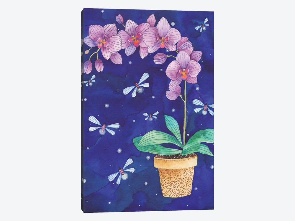 Radiant Orchid by Ana Victoria Calderón 1-piece Canvas Art Print