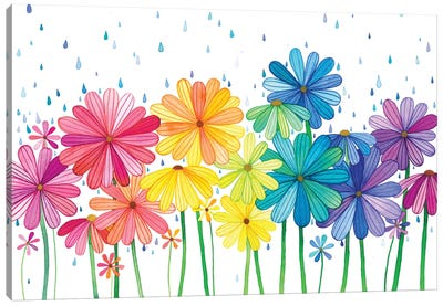 Rain Rainbow Canvas Art Print