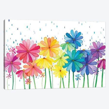 Rain Rainbow Canvas Print #AVC28} by Ana Victoria Calderón Art Print