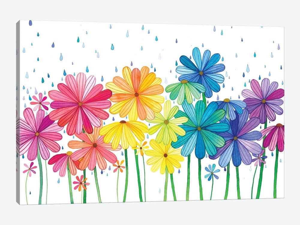 Rain Rainbow by Ana Victoria Calderón 1-piece Canvas Wall Art