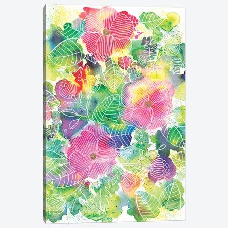 Rainbow Splatter Canvas Print #AVC29} by Ana Victoria Calderón Canvas Art Print