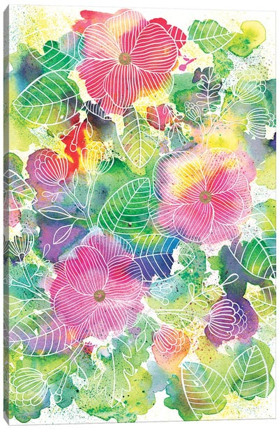 Rainbow Splatter Canvas Art Print