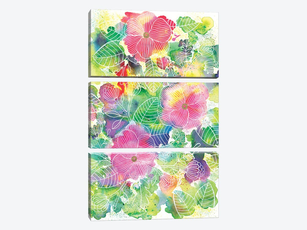 Rainbow Splatter by Ana Victoria Calderón 3-piece Canvas Art Print