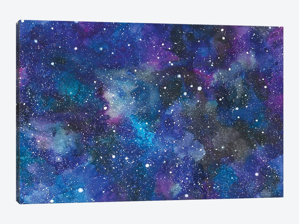 Rocket Background by Ana Victoria Calderón 1-piece Canvas Art Print