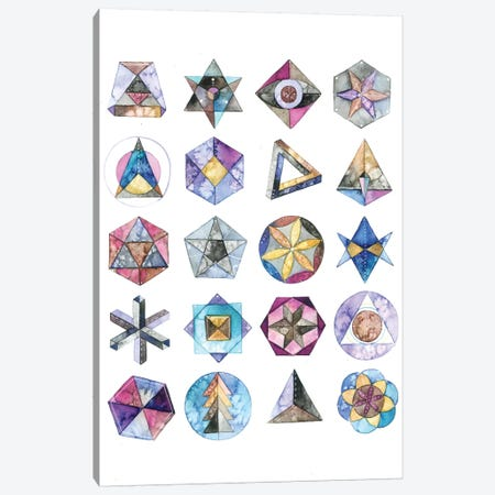 Sacred Geometry Canvas Print #AVC31} by Ana Victoria Calderon Canvas Artwork