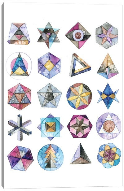 Sacred Geometry Canvas Art Print