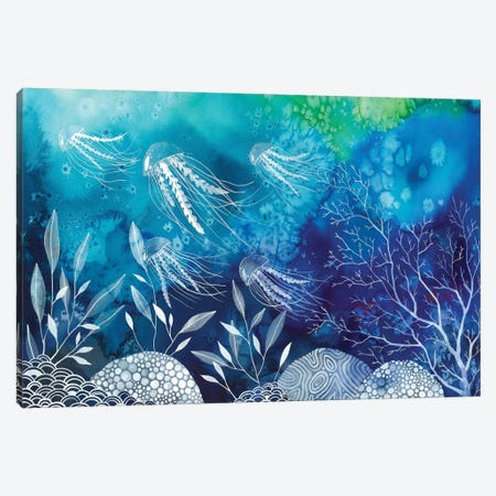 Sea Life Canvas Print #AVC32} by Ana Victoria Calderon Canvas Artwork