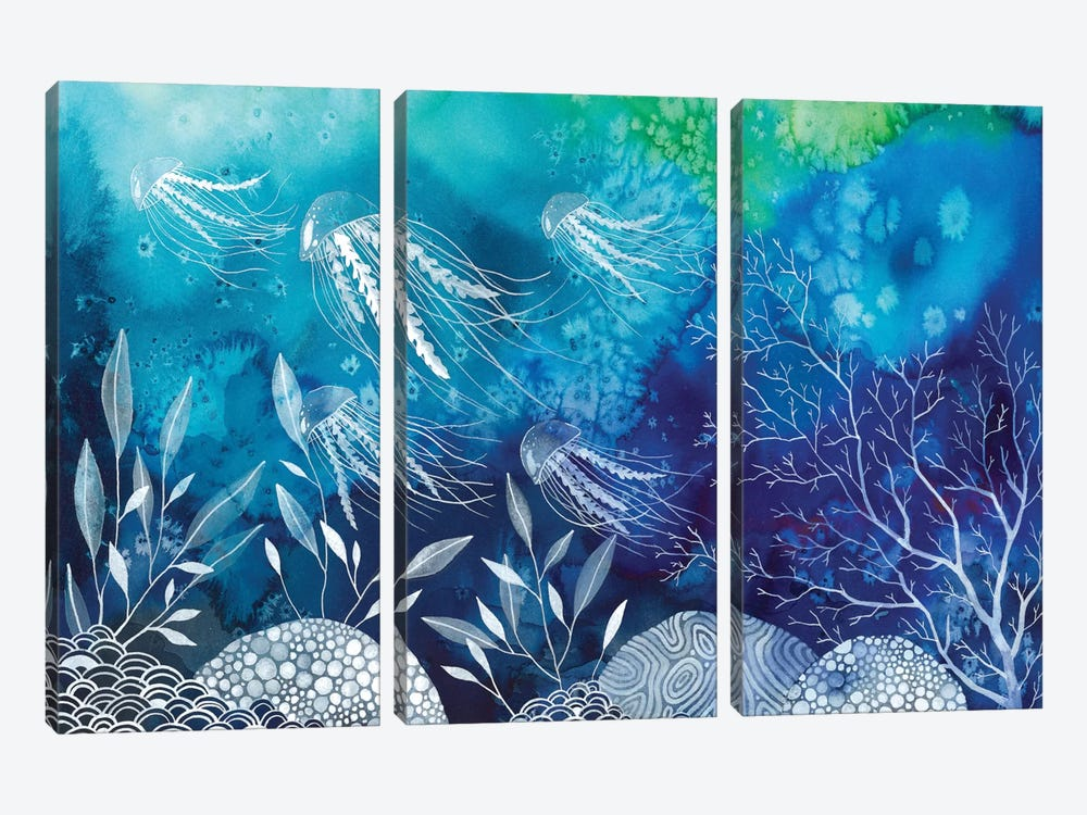Sea Life by Ana Victoria Calderon 3-piece Canvas Print