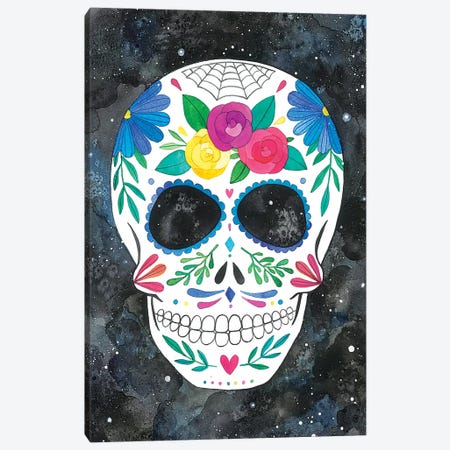 Sugar Skull I Canvas Print #AVC33} by Ana Victoria Calderón Canvas Art