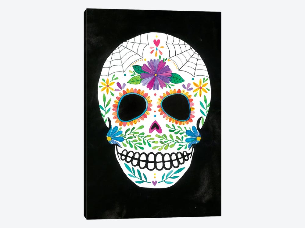 Sugar Skull II by Ana Victoria Calderón 1-piece Canvas Print