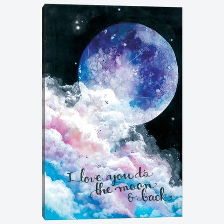 To The Moon And Back Canvas Print #AVC36} by Ana Victoria Calderón Canvas Art Print