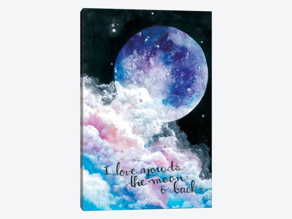 To The Moon And Back by Ana Victoria Calderón 1-piece Canvas Art Print