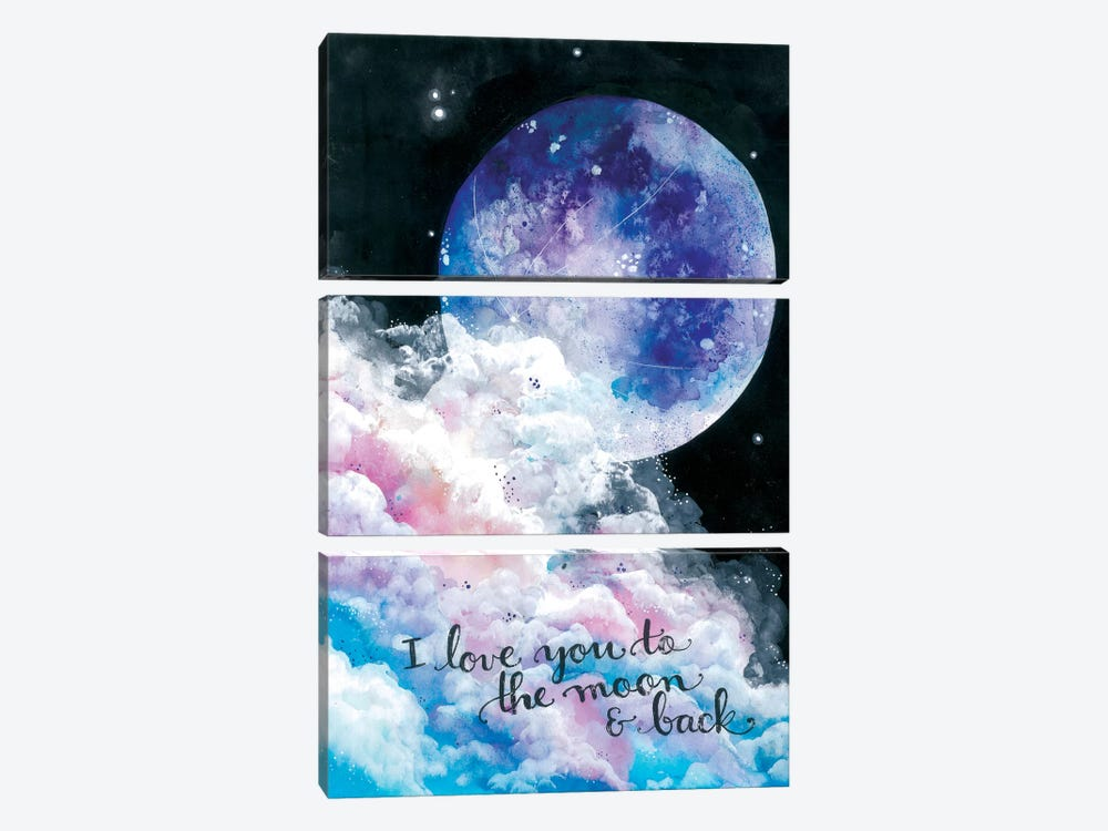 To The Moon And Back 3-piece Art Print