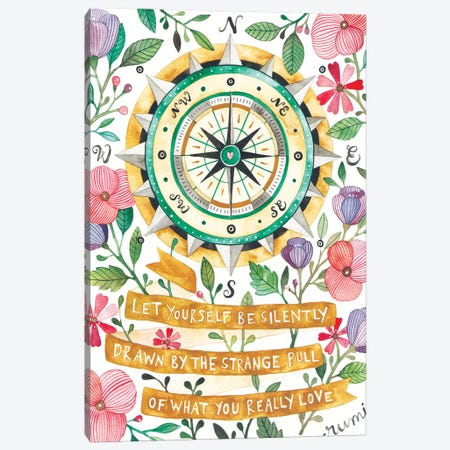 Compass Canvas Print #AVC38} by Ana Victoria Calderon Canvas Art