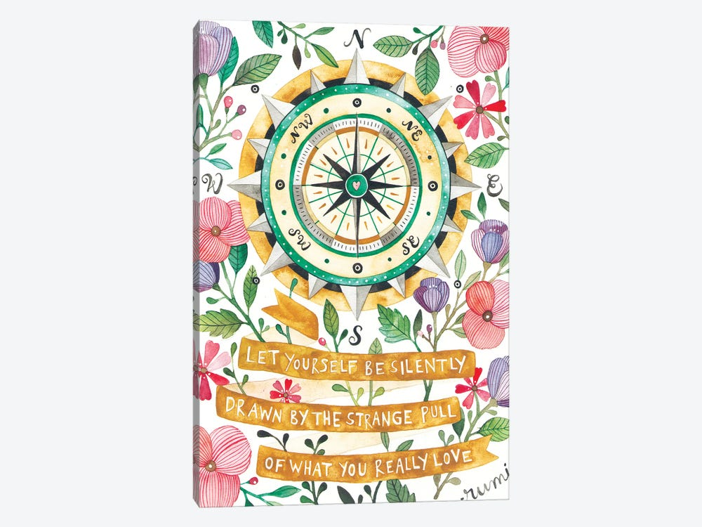 Compass by Ana Victoria Calderon 1-piece Canvas Art Print