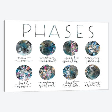 Diamond Phases 3-Piece Canvas #AVC39} by Ana Victoria Calderón Canvas Artwork