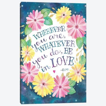 Be In Love Canvas Print #AVC3} by Ana Victoria Calderón Art Print