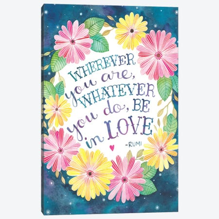 Be In Love Canvas Print #AVC3} by Ana Victoria Calderón Art Print