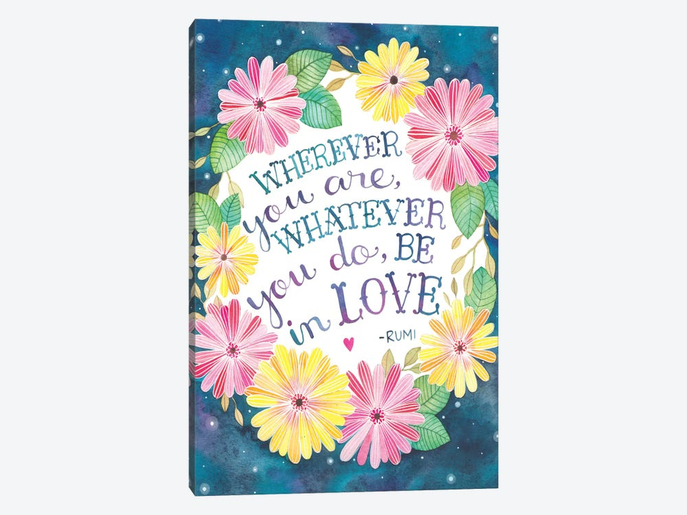 Be In Love by Ana Victoria Calderon 1-piece Canvas Artwork