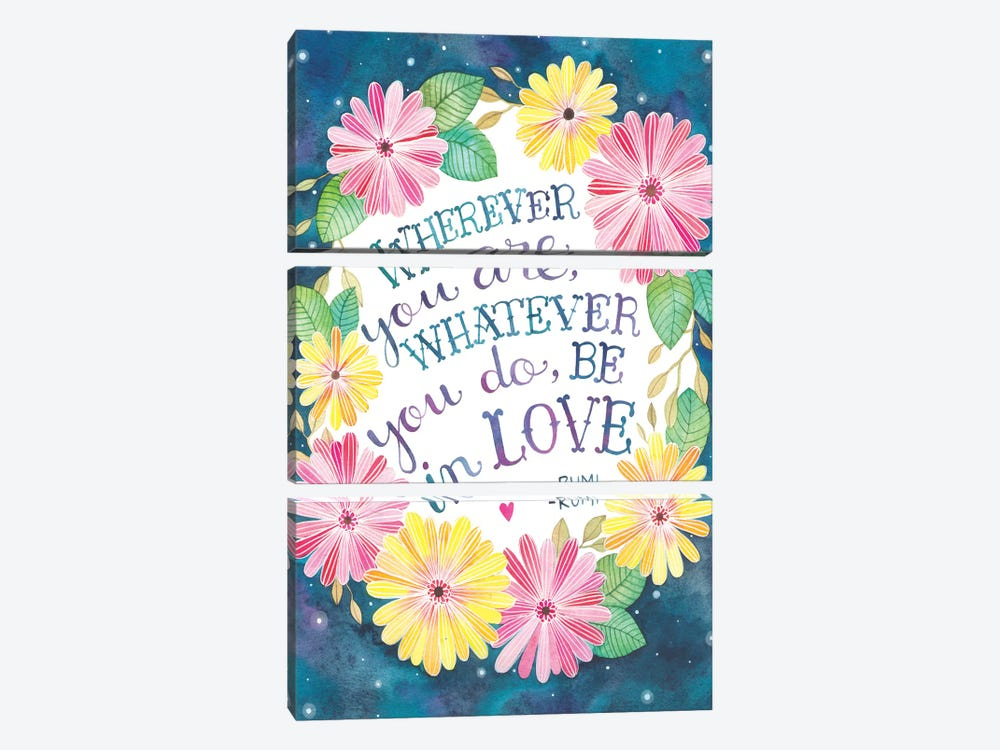 Be In Love by Ana Victoria Calderon 3-piece Canvas Art