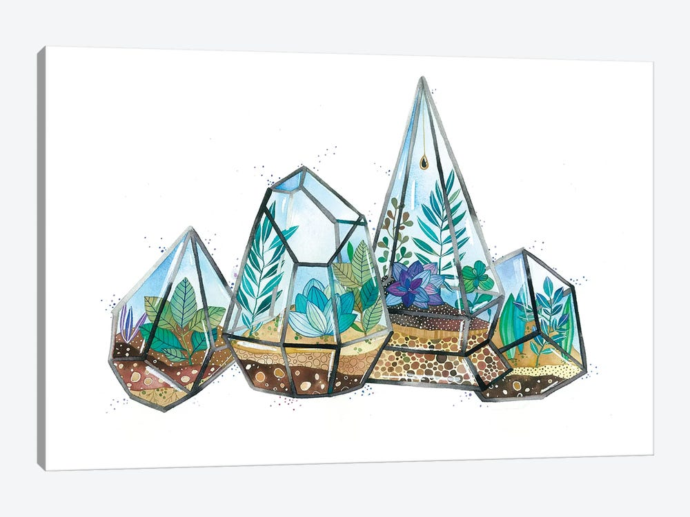 Quartz Terrarium by Ana Victoria Calderon 1-piece Canvas Art