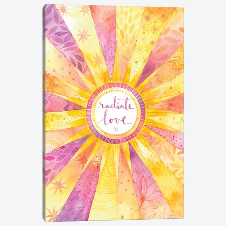 Radiate Love Canvas Print #AVC45} by Ana Victoria Calderón Canvas Artwork