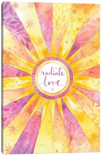 Radiate Love Canvas Art Print