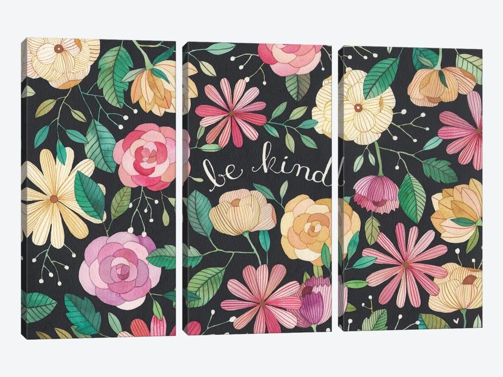 Be Kind by Ana Victoria Calderón 3-piece Canvas Print