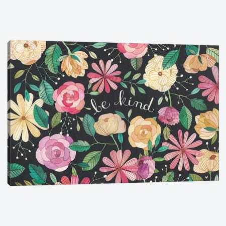 Be Kind Canvas Print #AVC4} by Ana Victoria Calderón Canvas Wall Art