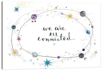 We Are All Connected Canvas Art Print