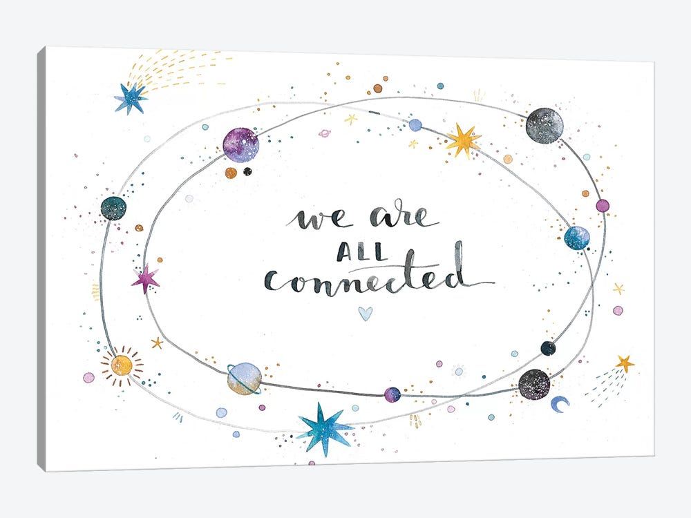We Are All Connected 1-piece Canvas Wall Art
