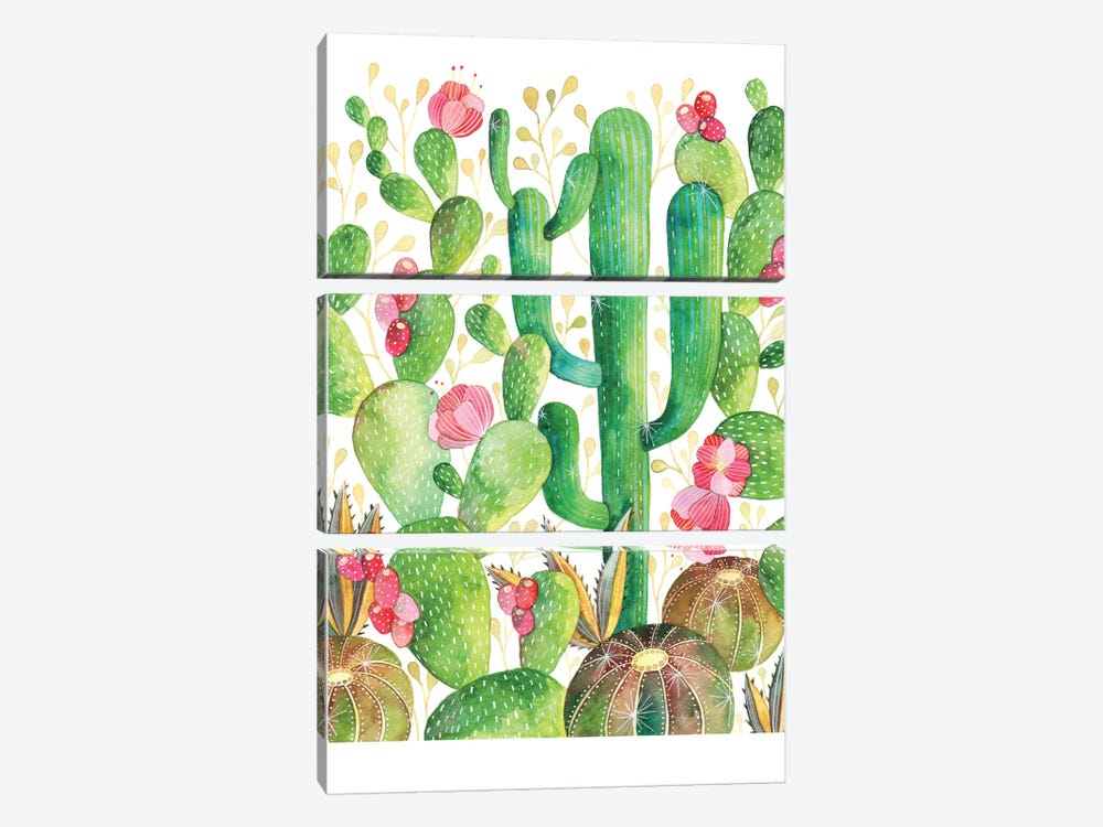 Cacti by Ana Victoria Calderón 3-piece Art Print