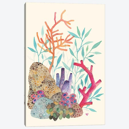 Coral Reef Canvas Print #AVC8} by Ana Victoria Calderón Canvas Art Print