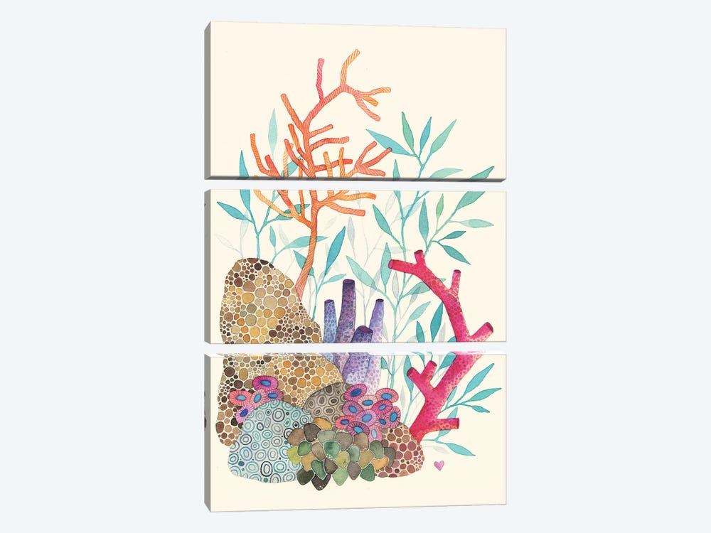Coral Reef by Ana Victoria Calderon 3-piece Canvas Print