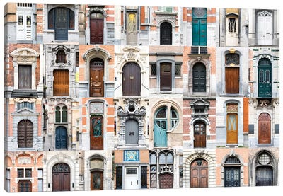 Doors of the World - Belgium  Canvas Art Print