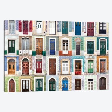 Doors of the World - Portugal  Canvas Print #AVG16} by Andre Vicente Goncalves Art Print
