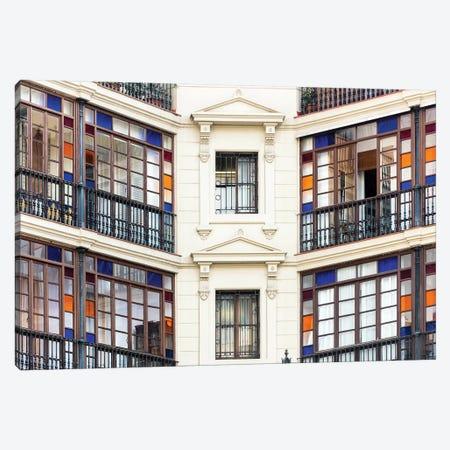 Façade - Barcelona, Catalonia, Spain I Canvas Print #AVG20} by Andre Vicente Goncalves Art Print