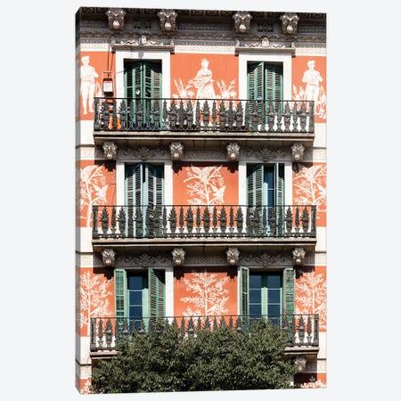 Façade - Barcelona, Catalonia, Spain II Canvas Print #AVG21} by Andre Vicente Goncalves Canvas Print