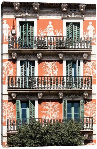 Façade - Barcelona, Catalonia, Spain II Canvas Art Print