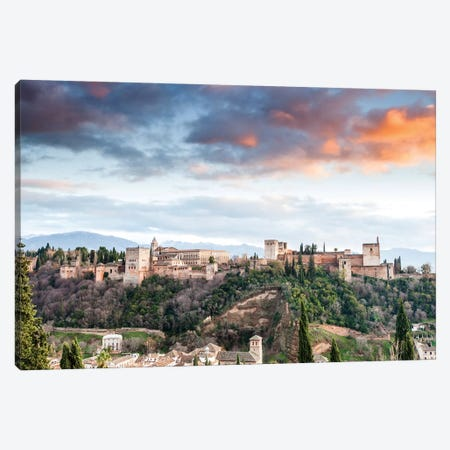 Alhambra - Granada, Andalusia, Spain II Canvas Print #AVG2} by Andre Vicente Goncalves Canvas Print